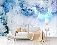 Bzbhart カスタム壁紙現代のミニマリストの抽象的なカラフルな雲の壁画テレビの背景の壁の壁画の3D壁紙-120cmx100cm