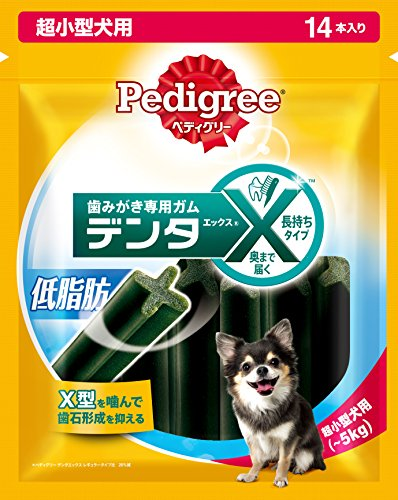 ペディグリー デンタエックス 超小型犬用 低脂肪 14本入