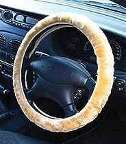 PC Procover RG2449BG 38cm Sheep Skin Steering Wheel Cover, Beige