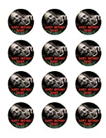 The Walking Dead 12 Cupcake Toppers TWD Zombie Edible Image Photo Cake Topper Sheet Personalized Custom Customized Birthday Party - 2.5 Inch (12 Toppers) - 76888 by Sweet Custom Cakes