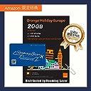 【Amazon限定】Orange Holiday ヨーロッパ - プリペイドSIMカード ー 4G通信 20GB 120分 SMS 1000通 SIMカードホルダー SIM取り出しピン (20GB)