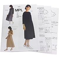型紙・パターン MPL ラグラン ウエスト切り替えドレス M165