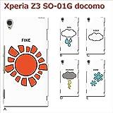 Xperia Z3 SO-01G (個性派03) E [C014504_05] 天気 面白 マーク 予報 雪 エクスペリア スマホ ケース docomo