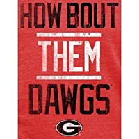 Fanatics Branded Georgia Bulldogs Women's Red Institution Tri-Blend V-Neck T-Shirt スポーツ用品 M 【並行輸入品】