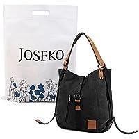 Canvas Multifunctional Casual Handbag,JOSEKO Women Convertible Backpack Purse Ladies Shoulder Bag with Women Girls Ladies, Large Capacity