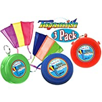 Toysmith Ready to Fly Deluxe Pocket Kites Red, Blue & Green Gift Set Bundle - 3 Pack [並行輸入品]