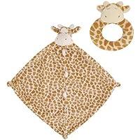 Angel Dear Giraffe Blankie and Ring Ratlle Set by Angel Dear