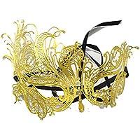 マスク マスクハロウィンメタルダイヤモンドワンピースマスク女性ヴェネチアマスクコスパリドレスアップハーフフェイスプリンセスマスク (色 : C)