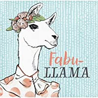 Elise Dapper Animals Llama ドリンクナプキン 48枚