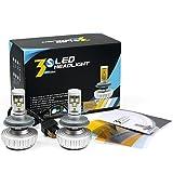 「Neverland」H4 車検対応ledヘッドライト CREE社製LEDチップ搭載 2個合計60W・6000LM 一体型設計 LEDデイライト・フォグライト 2個セット