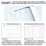コクヨ ジブン手帳 mini DIARY 手帳 2020年 B6 スリム マンスリー&ウィークリー ホワイト ニ-JCMD1W-20 画像