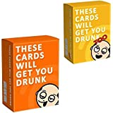 Wazonton THESE CARDS WILL GET YOU DRUNK TOO exploding kitten Party Game,Model:Orange-1