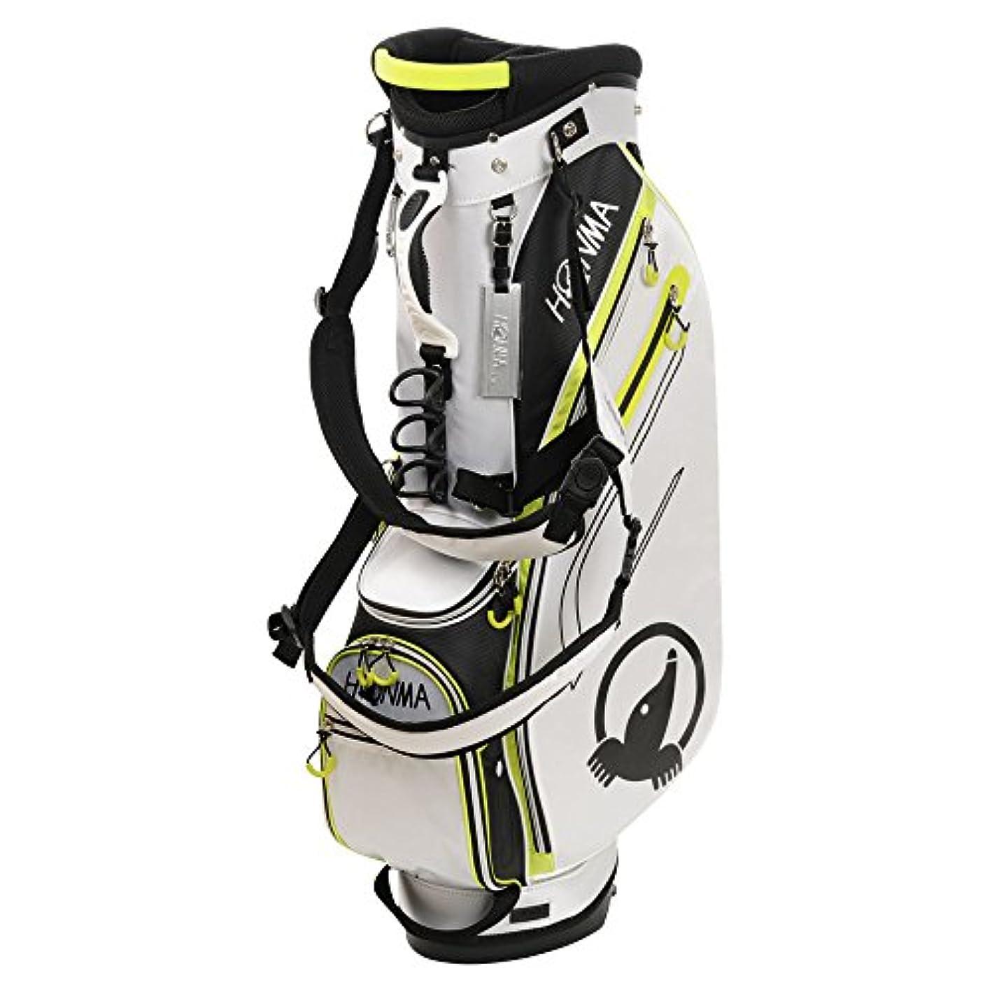 魅了する公式輝く本間ゴルフ キャディーバッグ HONMA CB-1812 メンズ ホワイト