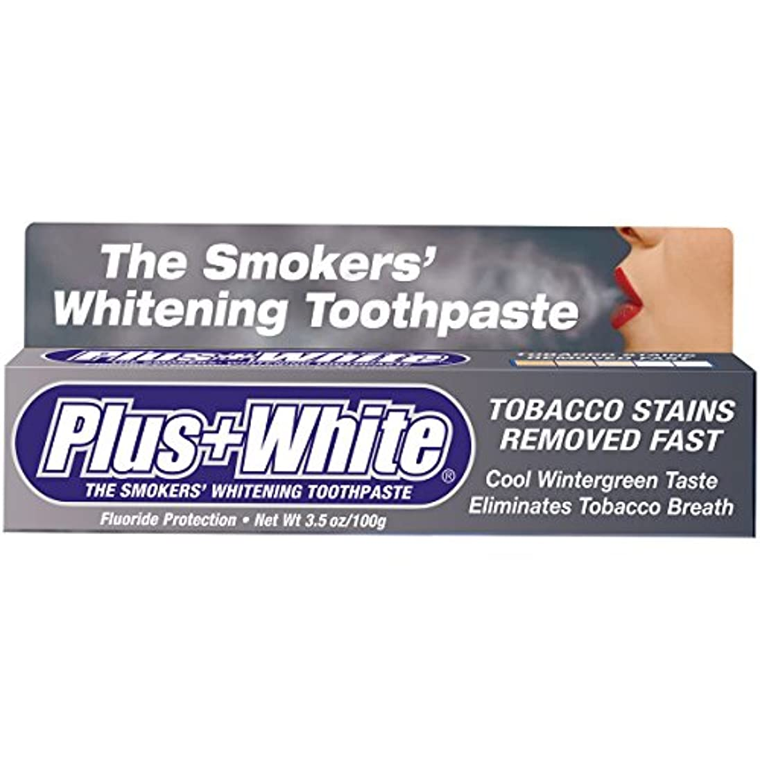 劇場ピカソ後ろにPlus White, The Smokers' Whitening Toothpaste, Cooling Peppermint Flavor, 3.5 oz (100 g)