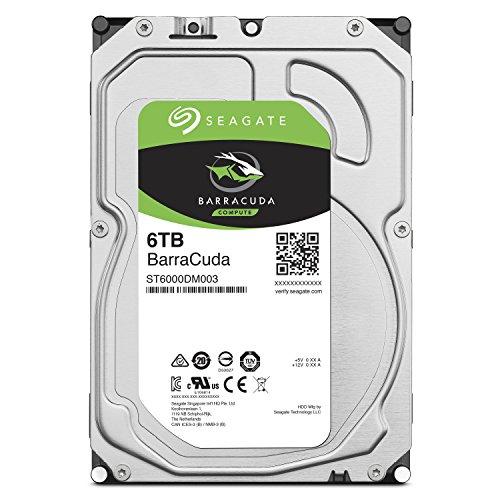 Seagate 内蔵ハードディスク 3.5インチ 6TB PCユーザー向け BarraCuda (SATA 6Gb/s / 5400rpm / 2年保証) 正規代理店品 ST6000DM003