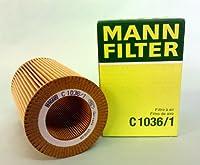 MANN エアーフィルター (スマート/カブリオ) C 1036/1 【型式:GF-MC01C 初年:01/05-02/08】
