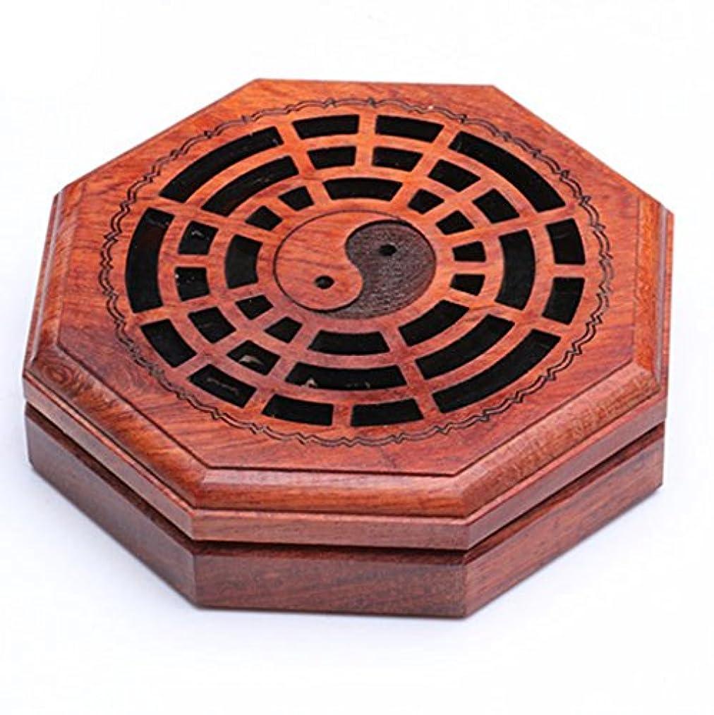 木超えるカフェ(ラシューバー) Lasuiveur 香炉 線香立て 香立て 職人さんの手作り 茶道用品 おしゃれ  木製 透かし彫り