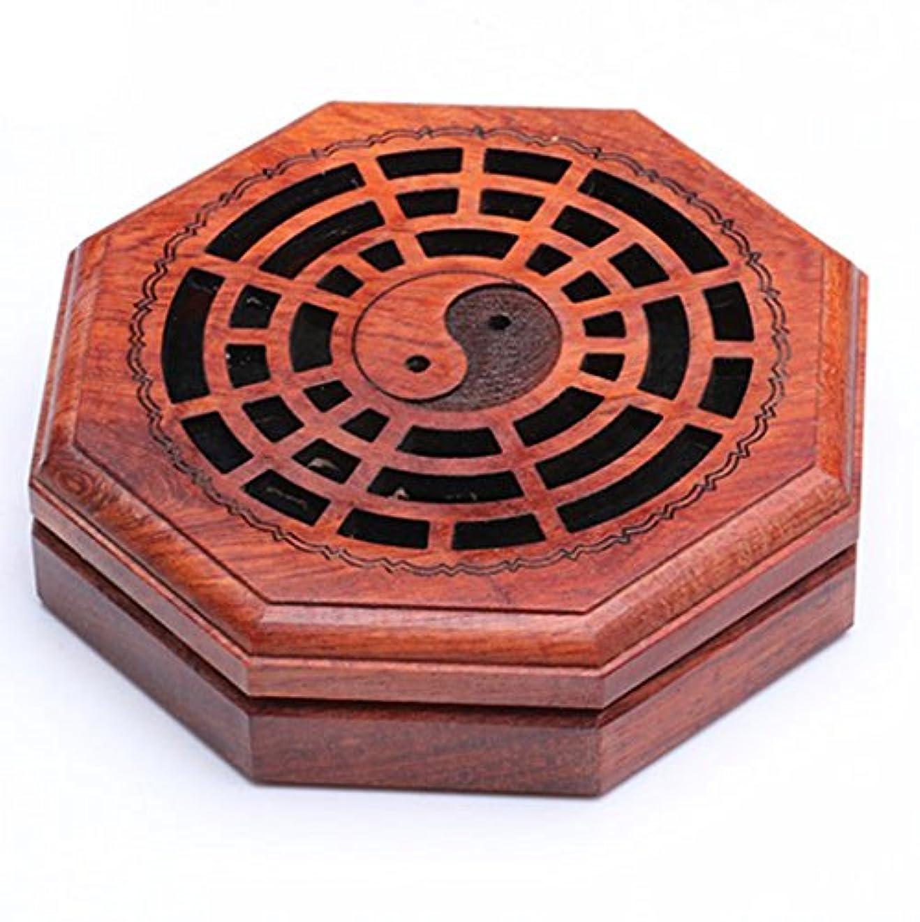 読者知覚できる吸い込む(ラシューバー) Lasuiveur 香炉 線香立て 香立て 職人さんの手作り 茶道用品 おしゃれ  木製 透かし彫り