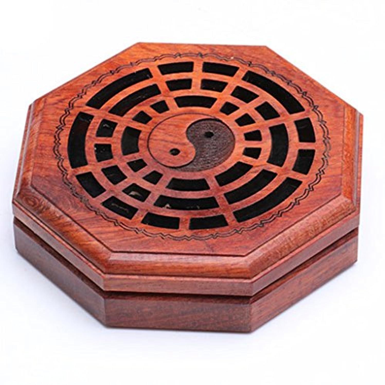 (ラシューバー) Lasuiveur 香炉 線香立て 香立て 職人さんの手作り 茶道用品 おしゃれ  木製 透かし彫り