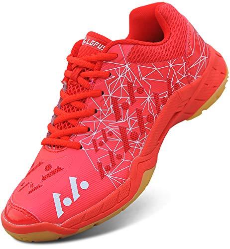 Fastorm(ファストン) [ファストン]バドミントンシューズ超軽量モデルメンズレディーズ野球バスケットボールランニングスポーツシューズ赤い色25.0Cm