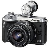 Canon ミラーレス一眼カメラ EOS M6 レンズEVFキット(シルバー) EF-M15-45mm F3.5-6.3 IS STM 付属 EOSM6SL-1545ISEVFK
