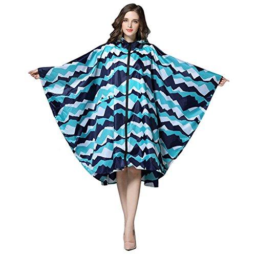[해외]Meltset 일본식 비옷 여성 패션 느긋 레인 판초 산책 레인 수납 주머니 달린 자전거 자전거 통근 판쵸 프리 사이즈 구름/Meltset Japanese style raincoat Women`s fashionable relaxation Rain poncho walk Walking with rain wear storage bag Bik...