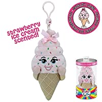 Whiffer Sniffer Shirley Cone Strawberry Ice Cream Scented Backpack Clip