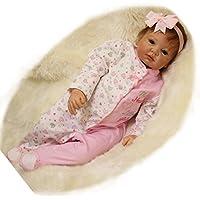 PursueベビーハンドメイドアジアRebornベビー人形with磁気口、中国Girl hanmeimei、22インチLifelike新生児赤ちゃん人形Weighted for Cuddle