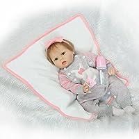 Adorable Reborn Toddler Girlおしゃぶり人形Poseable Lifelike赤ちゃんソフトシリコン手足Weightedボディ、22インチ