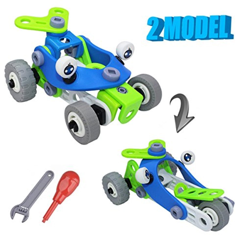 Nument ( TM ) 2 in 1 DIY Stem building blocksおもちゃクリエイティブConstruction StackingおもちゃパズルDIY再生Toys Set withスクリューナットツール教育5 +用のキットの子供の誕生日、パーティー、クリスマス