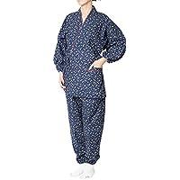 作務衣 日本製 雪乃-婦人作務衣(さむえ)綿100% 桜柄(エンジ・紺・ピンク・紫)