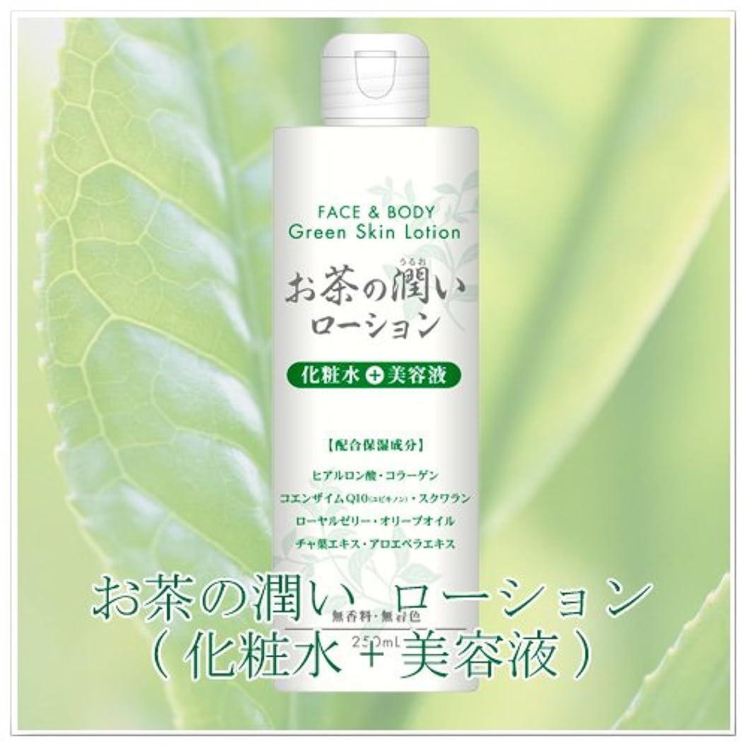 白菜歴史的飢えたお茶の潤い グリーンローションH 化粧水+美容液