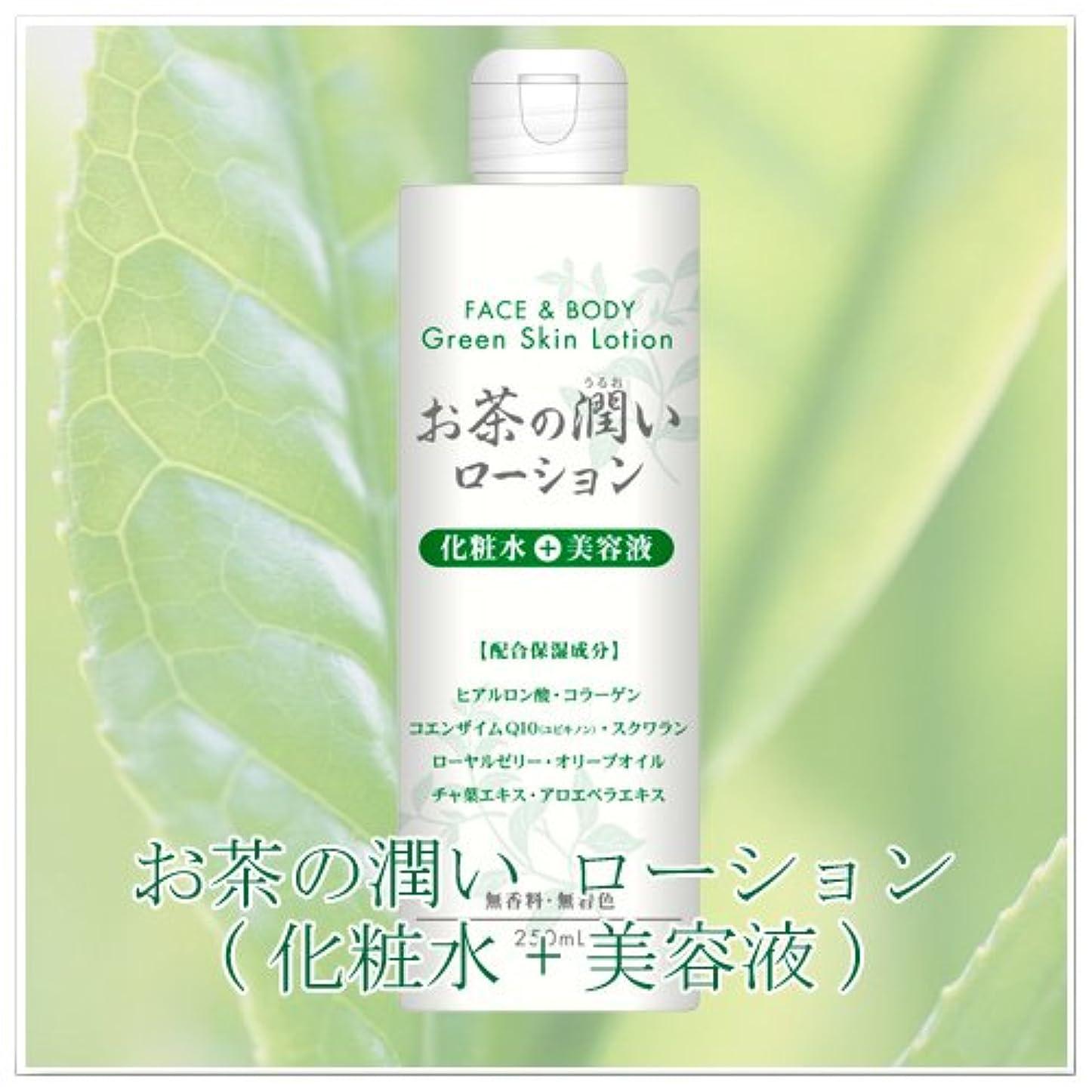 拡声器アッパー変色するお茶の潤い グリーンローションH 化粧水+美容液