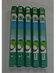 HEM Coconut 100 Incense Sticks (5 x 20 stick packs) by Hem