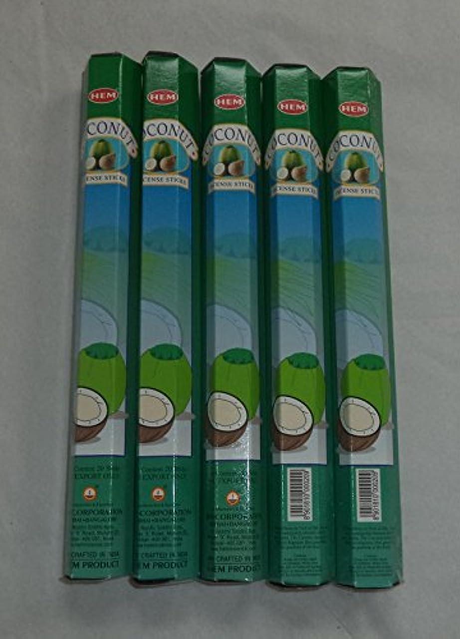 とにかくすることになっている出会いHEM Coconut 100 Incense Sticks (5 x 20 stick packs) by Hem