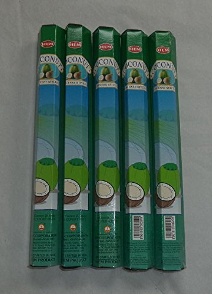 論理的に常に座るHEM Coconut 100 Incense Sticks (5 x 20 stick packs) by Hem