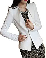 [ルガルデ] Regarder エレガント フォーマル 通勤 スーツ ショート レディース ジャケット ホワイト ブラック 白 黒