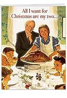 ヒラリーとBernie 2つBestフロントランナークリスマスユーモアGreeting Card 1 Jumbo Christmas Card & Enve. (J4278XSGC)