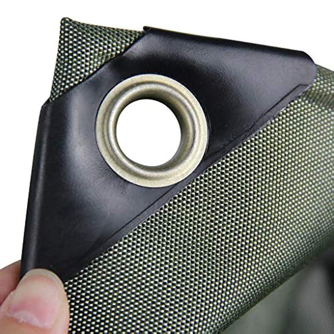実業家従順含むタープ 太陽と雨のための大きい緑の防水シート、PVCの上塗を施してある布の防水シート、防水、耐久性、引裂抵抗、老化防止 テント (Color : Green, Size : 5m×6m)