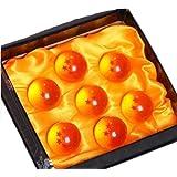 「ZNU」ドラゴンボール(DRAGON BALL)神龍召喚 水晶 ドラゴン 龍球 7点セット クリスタル 4.5cm コスプレ小道具 箱入り