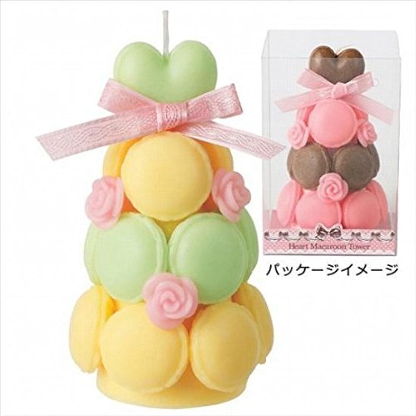 学ぶ異形ピッチkameyama candle(カメヤマキャンドル) ハートマカロンタワー 「 ミントイエロー 」 キャンドル(A6940520)