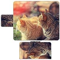 Pocket WiFi S S31HW ☆ ケース・カバー 完全受注生産 完全国内印刷 スライド式スマホケース 手帳型 写真 仲良しの猫 ワイモバイル yモバイル スマホカバー オリジナルデザイン プリント 日本製