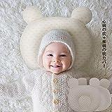 ベビー枕 赤ちゃん まくら 絶壁 寝返り防止 出産祝い 出産準備 (心柄枕+熊柄カバー)