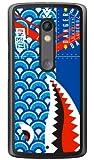 YESNO シャーク 鯉のぼり ブルー (クリア) / for Moto X Play XT1562/MVNOスマホ(SIMフリー端末) MMRXPY-PCCL-201-N232 MMRXPY-PCCL-201-N232