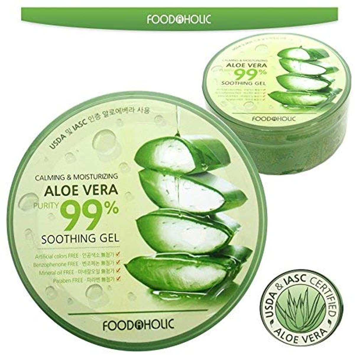 飛ぶ測る見捨てる[FOOD A HOLIC] 穏やかな&保湿アロエベラ純度は99%スージングジェル(300ml * 1EA) / Calming & Moisturizing Aloe Vera Purity 99% Soothing...