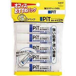 トンボ鉛筆 スティックのり ピットハイパワーS 5個 HCA-511