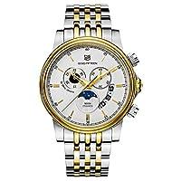 ゴールドFifteenメンズクオーツクロノグラフ腕時計 ゴールド
