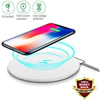 Fast Wireless Charger Qi Fast Wireless ChargerPad / Stand Charger for Galaxy Note 8 S8 S8 Plus S7 Edge S7 S6 Edge Plus Note 5 and Standard Charge for iPhone X/8/8 Plus (for Qi-enabled phones) [並行輸入品]
