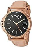 PUMA 腕時計 Pumaユニセックスpu103462005Ultrasize LDSアナログ表示クォーツベージュウォッチ
