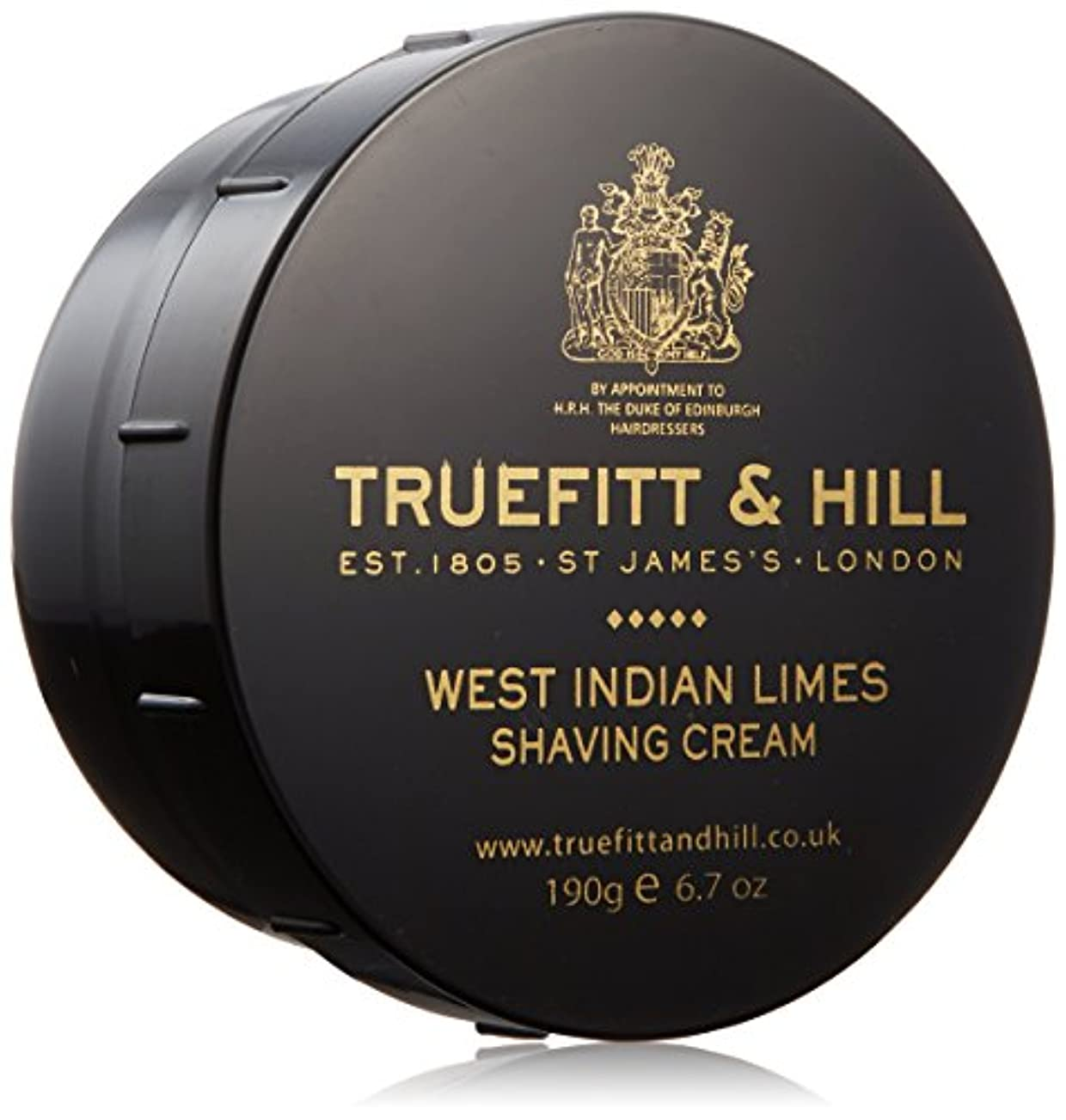 確立打ち負かすよりトゥルフィット&ヒル ウェストインディアンライム シェービングクリーム